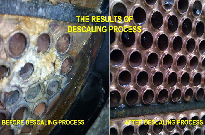 marine engine descaling